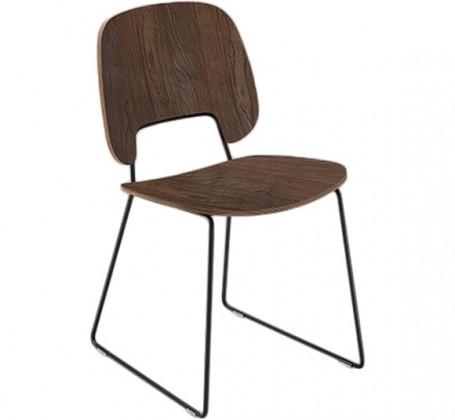 Jídelní židle Traffic-t - Jídelní židle (lak černý mat, čokoládový jasan)