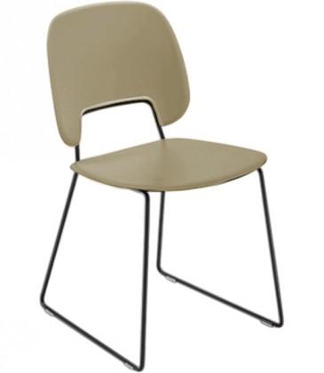 Jídelní židle Traffic-t - Jídelní židle (lak černý mat, plast pískový)