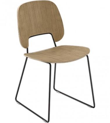 Jídelní židle Traffic-t - Jídelní židle (lak černý mat, světlý dub)