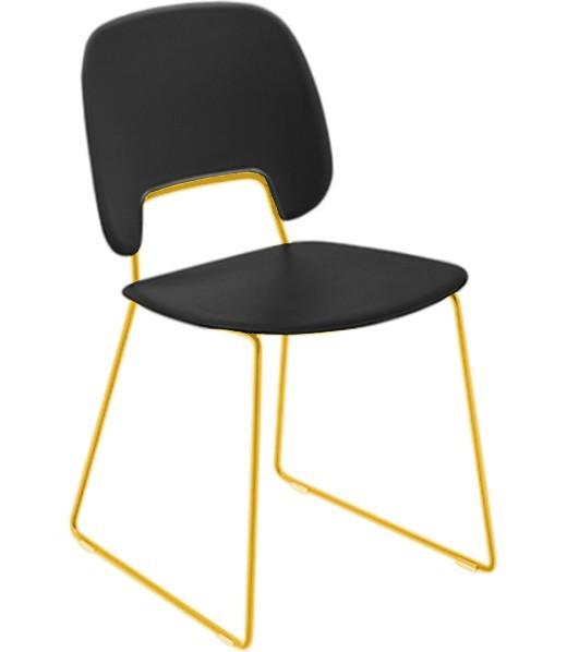 Jídelní židle Traffic-t - Jídelní židle (lak hořčicový, plast černá)