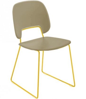 Jídelní židle Traffic-t - Jídelní židle (lak hořčicový, plast pískový)
