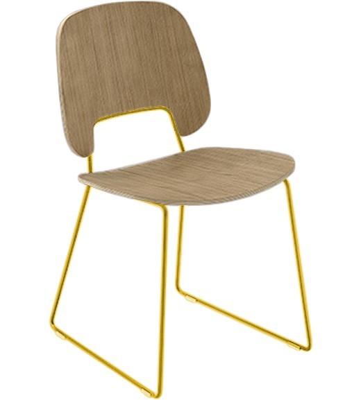 Jídelní židle Traffic-t - Jídelní židle (lak hořčicový, světlý dub)