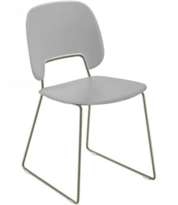 Jídelní židle Traffic-t - Jídelní židle (lak pískový mat, eko kůže bílá)