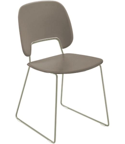 Jídelní židle Traffic-t - Jídelní židle (lak pískový mat, eko kůže taupe)