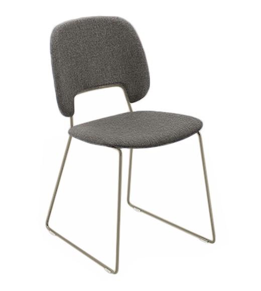 Jídelní židle Traffic-t - Jídelní židle (lak pískový mat, látka hnědá)