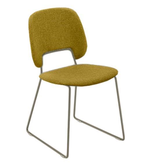 Jídelní židle Traffic-t - Jídelní židle (lak pískový mat, látka hořčicová)
