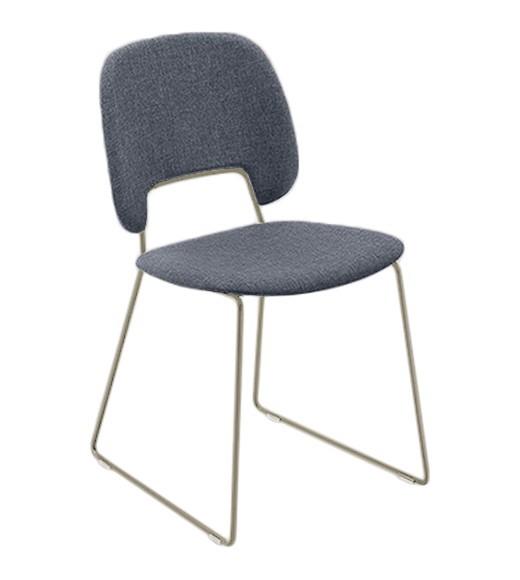 Jídelní židle Traffic-t - Jídelní židle (lak pískový mat, látka jeans)