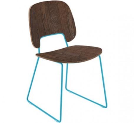 Jídelní židle Traffic-t - Jídelní židle (lak tyrkysový mat, čokoládový jasan)