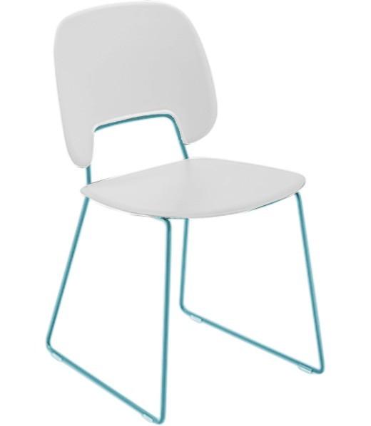 Jídelní židle Traffic-t - Jídelní židle (lak tyrkysový mat, plast bílá)