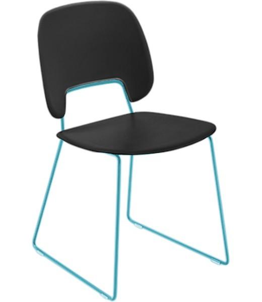 Jídelní židle Traffic-t - Jídelní židle (lak tyrkysový mat, plast černá)