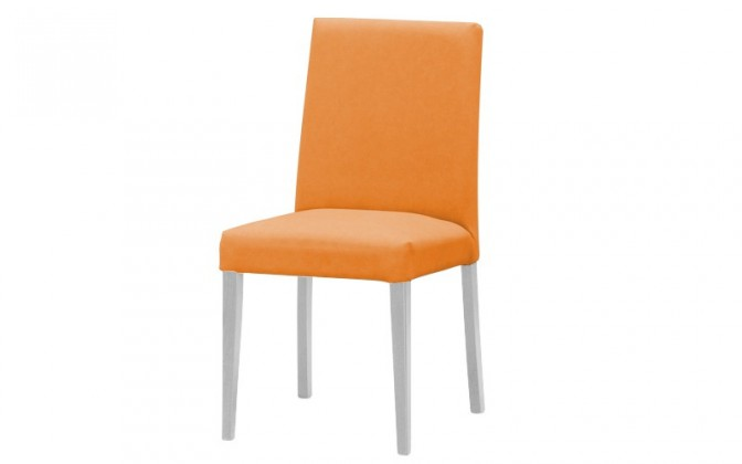 Jídelní židle Uno(bílá/carabu arancio 94)