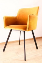 Jídelní židle Vian hořčicová, černá