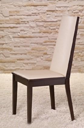 Jídelní židle Vicente - Jídelní židle (wenge/eko kůže krémová)