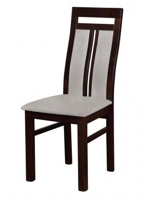 Jídelní židle Werona - jídelní židle (dřevo - tmavý ořech/potah - látka)