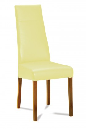 Jídelní židle Wolfa (dub/eko kůže kaiman slonová kost)