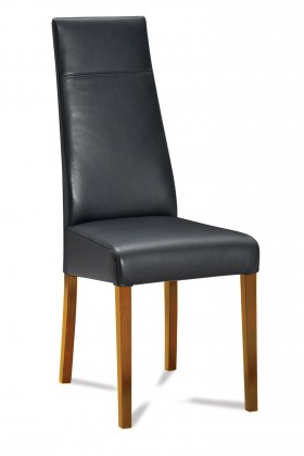 Jídelní židle Wolfa (dub/eko kůže vienna černá)