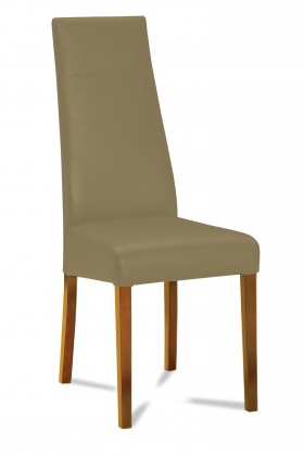 Jídelní židle Wolfa (dub/eko kůže vienna hnědá)