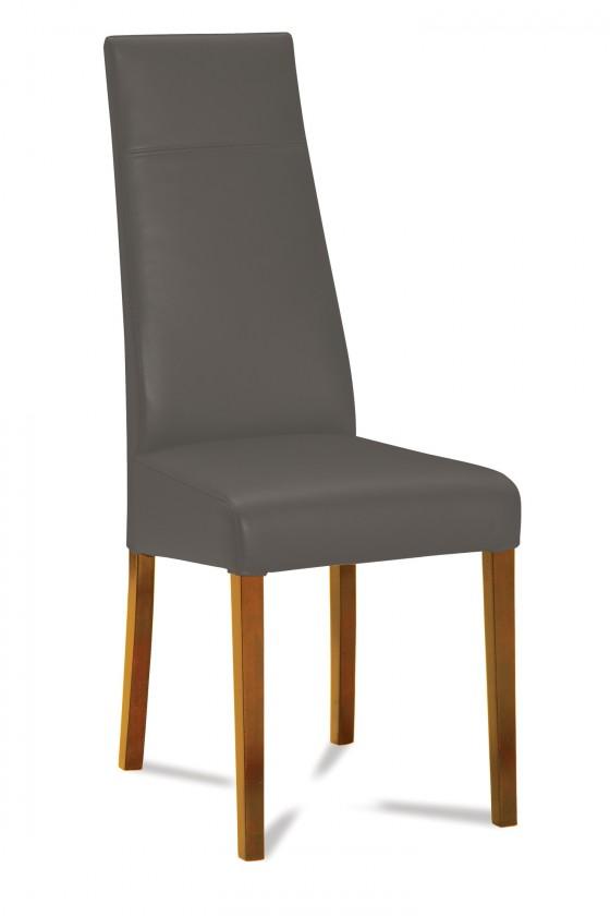 Jídelní židle Wolfa (dub/látka navara šedá)
