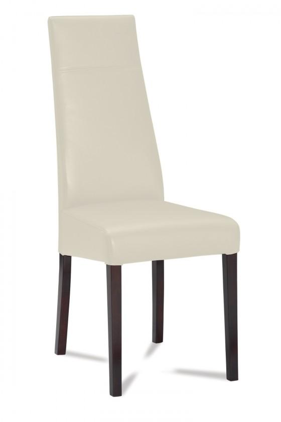 Jídelní židle Wolfa (wenge/látka carabu světle béžová)