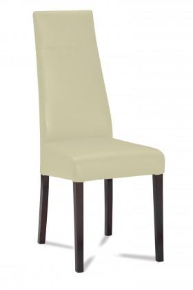 Jídelní židle Wolfa (wenge/látka navara světle béžová)