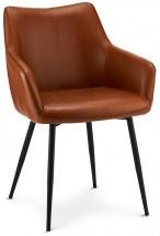 Jídelní židle Zalea hnědá, černá