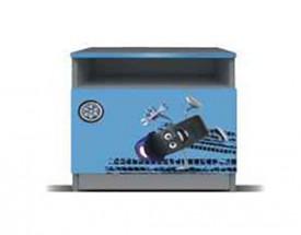 Junior mechanik - Noční stolek (šedá/modrá)