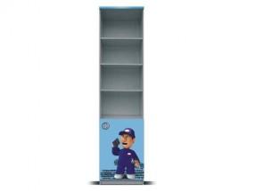 Junior mechanik - Regál (šedá/modrá, 1x dveře)