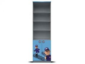 Junior mechanik - Regál (šedá/modrá, 2x dveře)