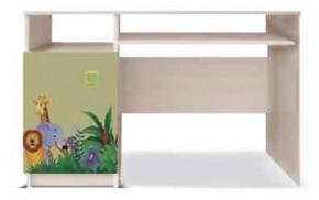Junior - PC stůl, džungle 13 (bříza/zelená)