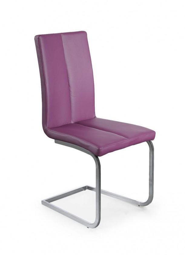 K143 (chromovaná ocel/eko kůže fialová)