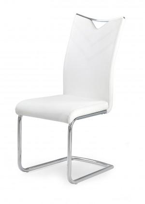 K224 - Jídelní židle (bílá, stříbrná)