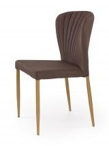 K236 - Jídelní židle, hnědá (lakovaná ocel, látka)