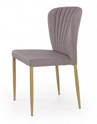 K236 - Jídelní židle, šedá (lakovaná ocel, látka)