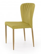 K236 - Jídelní židle, zelená (lakovaná ocel, látka)