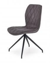 K237 - Jídelní židle, šedá (ocel, eko kůže)