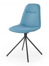 K240 - Jídelní židle, modrá (ocel, látka)