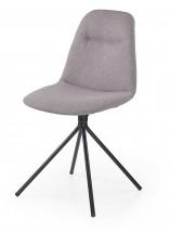 K240 - Jídelní židle, šedá (ocel, látka)