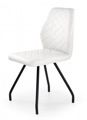 K242 - Jídelní židle, bílá (ocel, eko kůže)