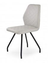 K242 - Jídelní židle, šedá (ocel, eko kůže)