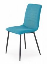 K251 - Jídelní židle, modrá (ocel, látka)