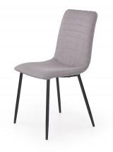 K251 - Jídelní židle, šedá (ocel, látka)
