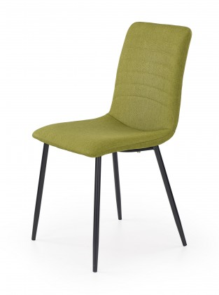 K251 - Jídelní židle, zelená (ocel, látka)