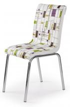 K260 - Jídelní židle (chrom, eko kůže)