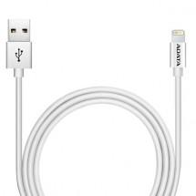 Kabel A-Data Sync&Charge Lightning, 1m, hliníkový, stříbrný