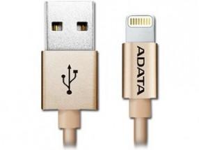 Kabel A-Data Sync & Charge Lightning, 1m, MFi, hliníkový,zlatý