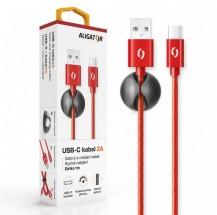 Kabel Aligator USB Typ C na USB, 2A, 1m, červená