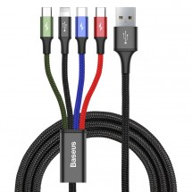 Kabel Baseus, 2xMicro-USB, 4v1, 3,5A, 1,2m, černá