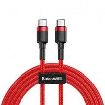Kabel Baseus, Cafule, USB-C na USB-C, 60W, 1m, červená