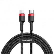 Kabel Baseus, Cafule, USB-C na USB-C, 60W, 1m, červerná/černá