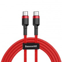 Kabel Baseus, Cafule, USB-C na USB-C, 60W, 2m, červená